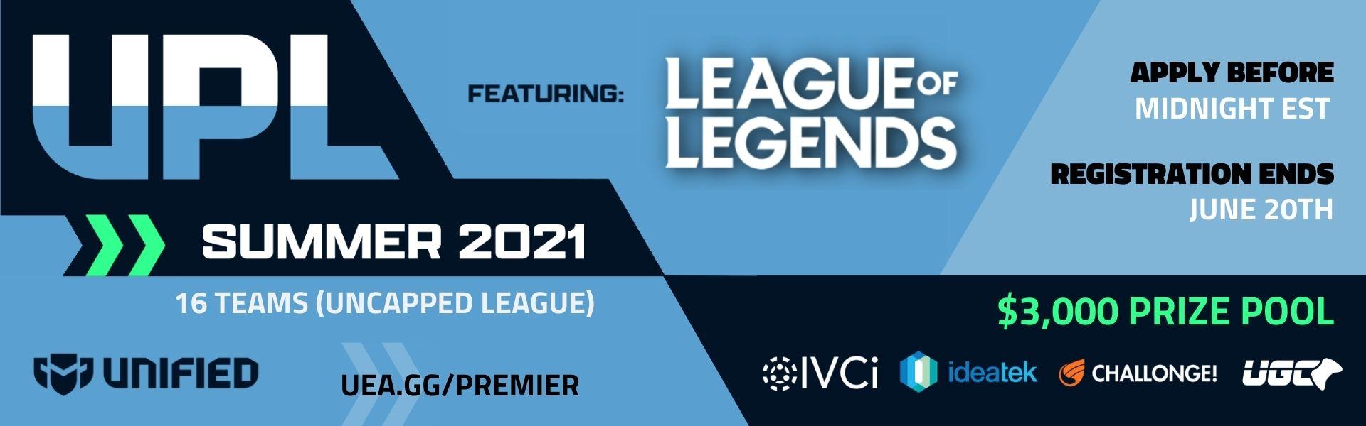 Upsurge Premier League - League of Legends - Summer 2021