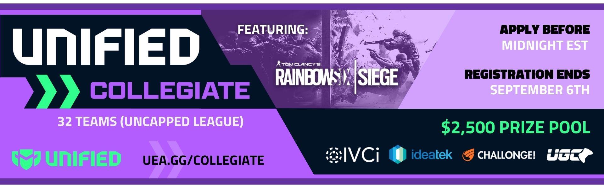 UCEA Rainbow Six: Siege Fall Season - Varsity