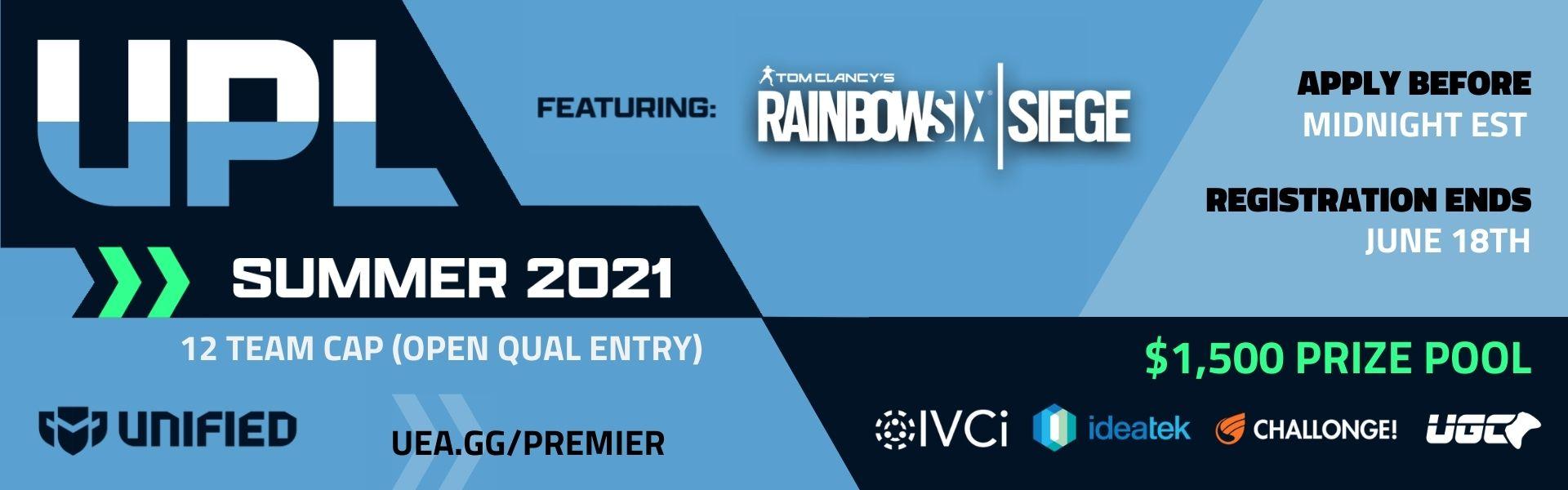 Upsurge Premier League - Rainbow Six Siege - Summer 2021