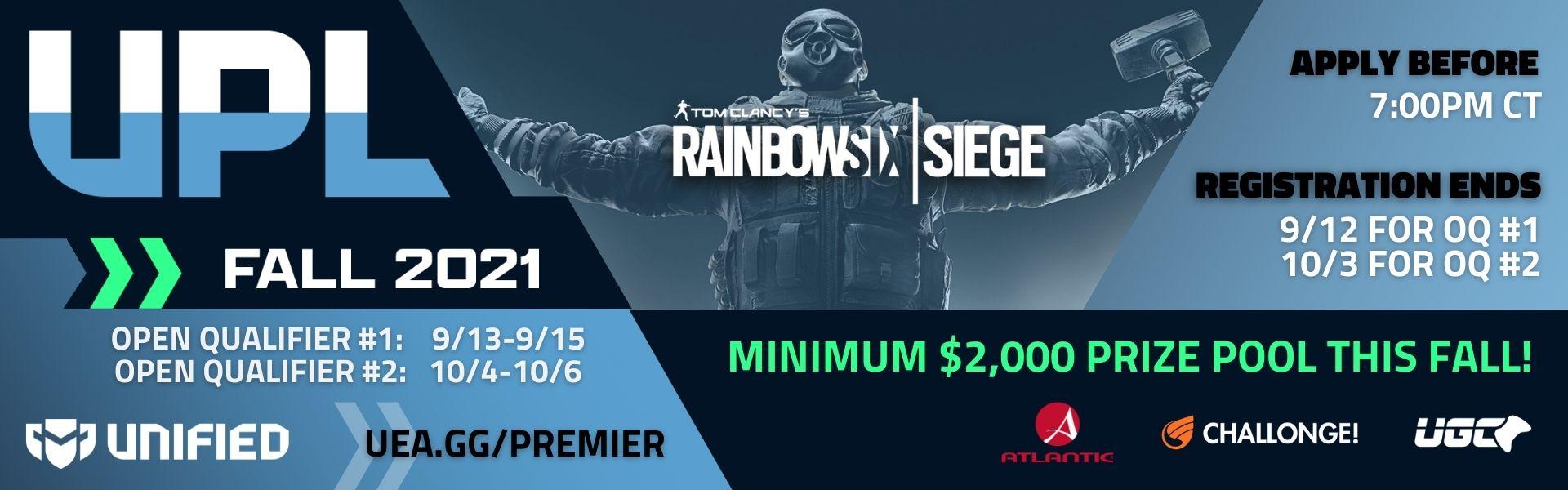 Unified Premier League - Rainbow Six Siege - Fall 2021